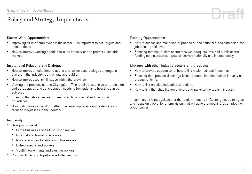 Policy and Strategy Implications