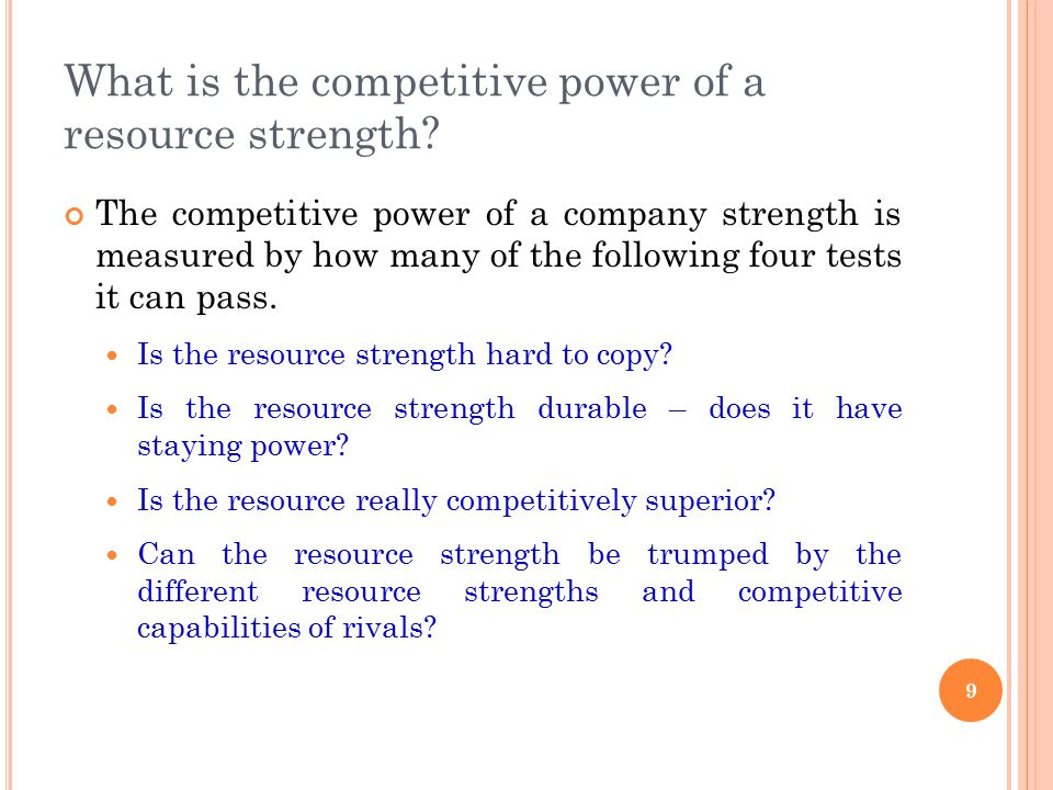 What is the competitive power of a resource strength