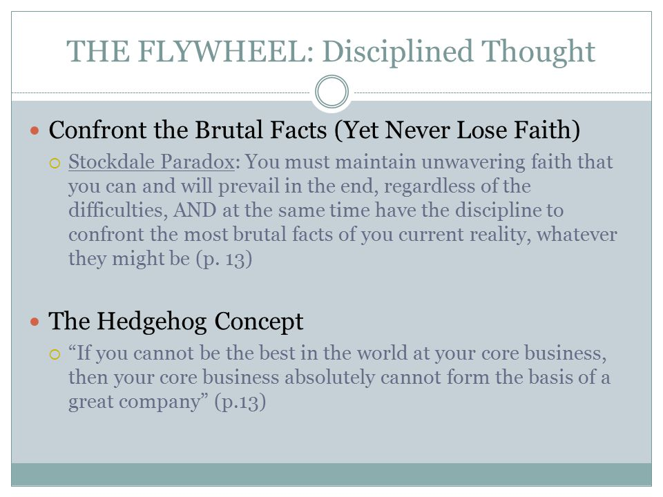 THE FLYWHEEL: Disciplined Thought
