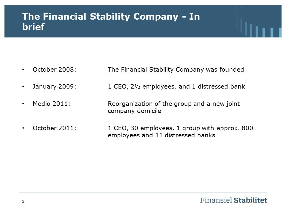 The Financial Stability Company - In brief