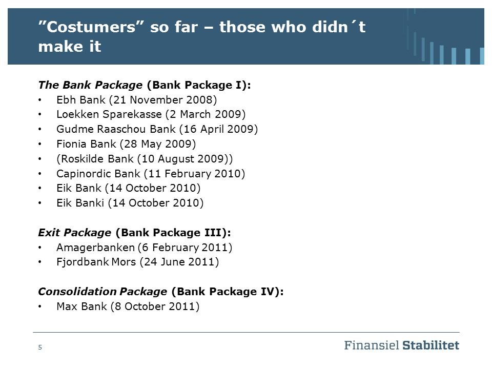 Costumers so far – those who didn´t make it