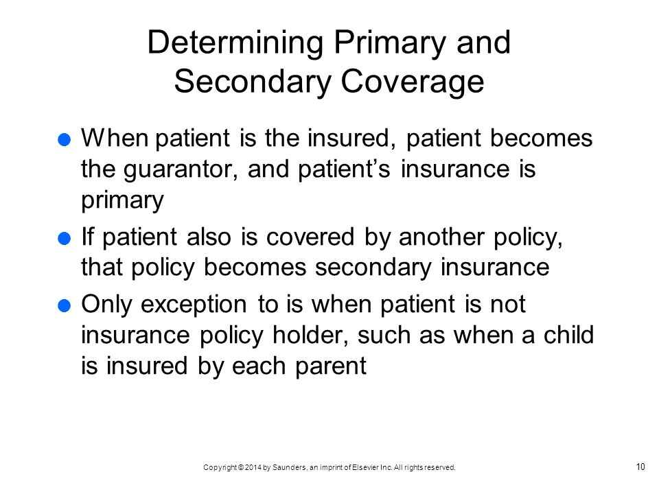 Determining Primary and Secondary Coverage
