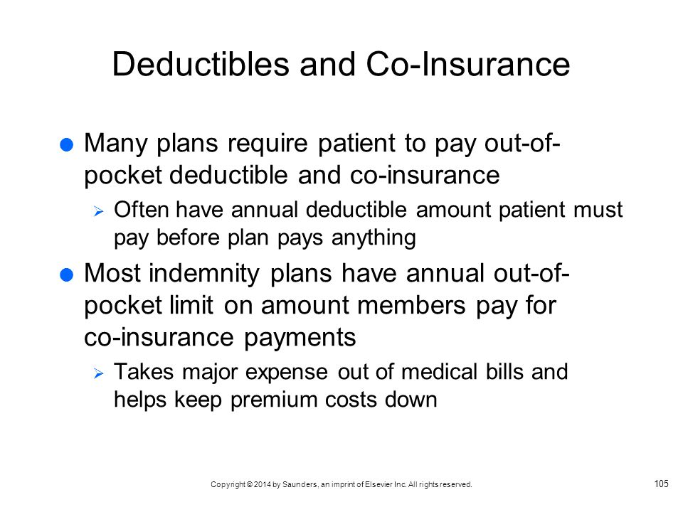 Deductibles and Co-Insurance