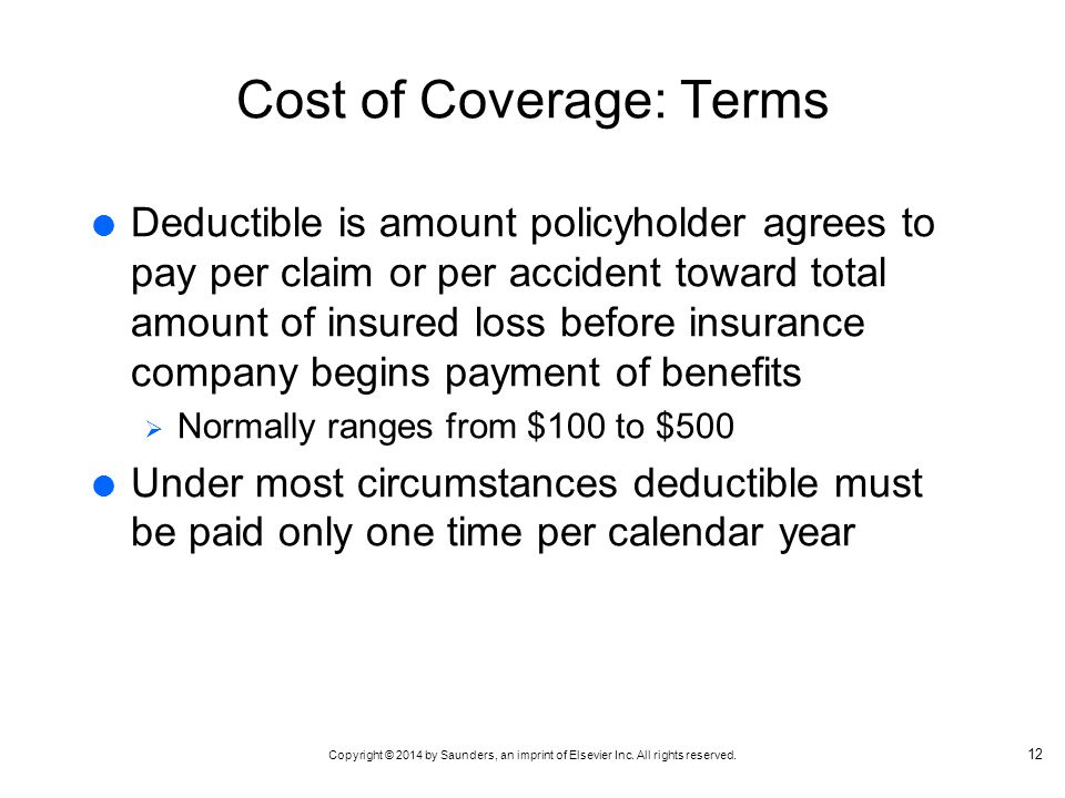 Cost of Coverage: Terms