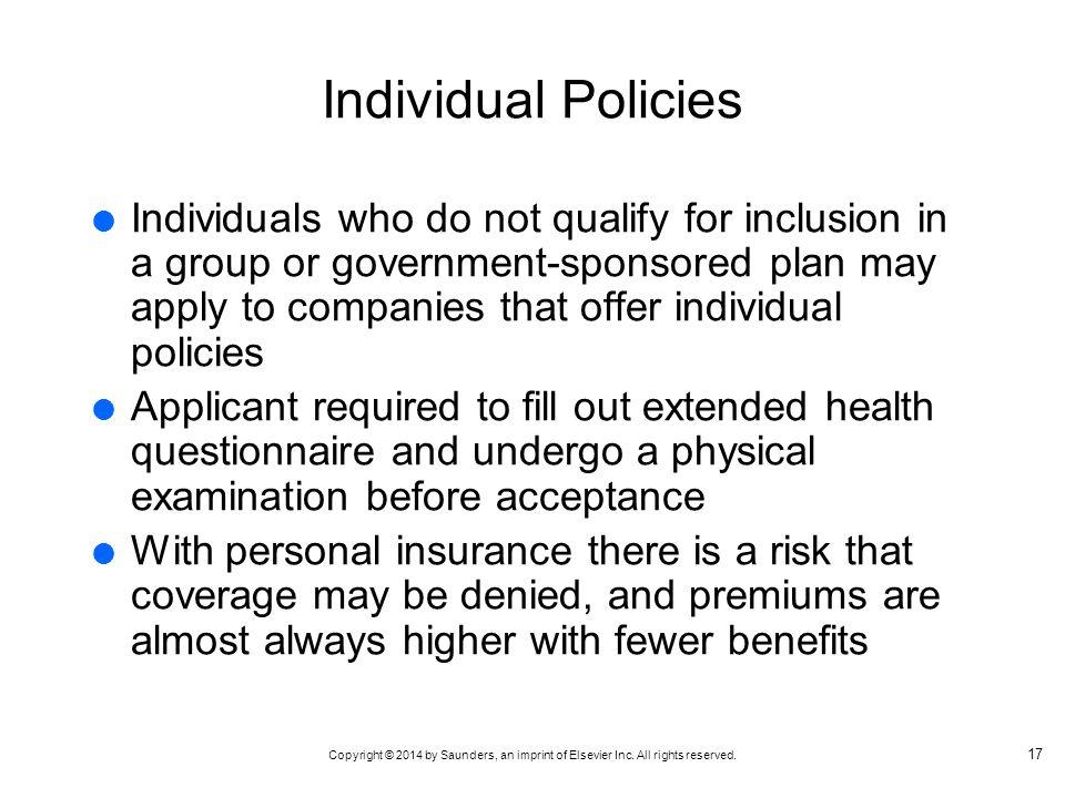 Individual Policies
