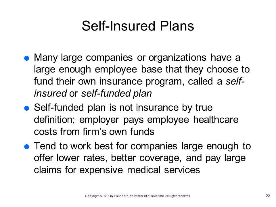 Self-Insured Plans