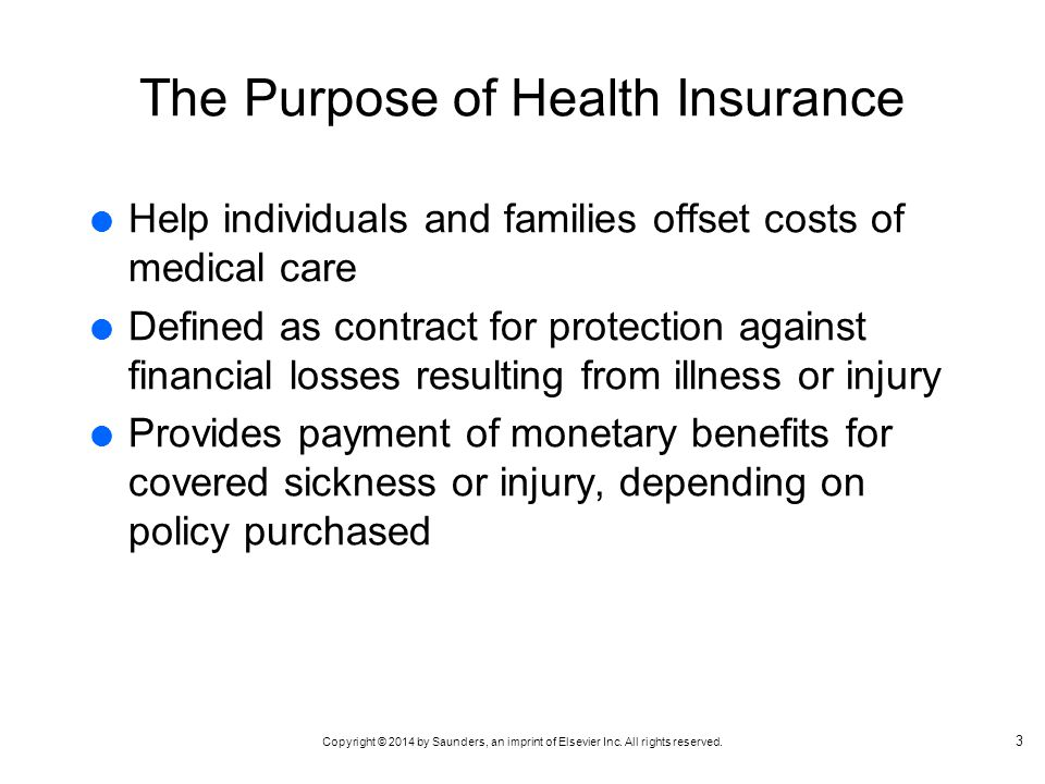 The Purpose of Health Insurance