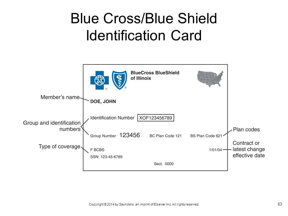 Blue Cross/Blue Shield Identification Card