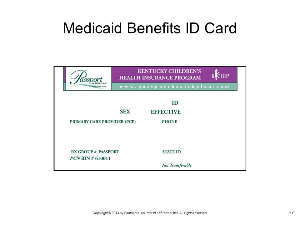 Medicaid Benefits ID Card