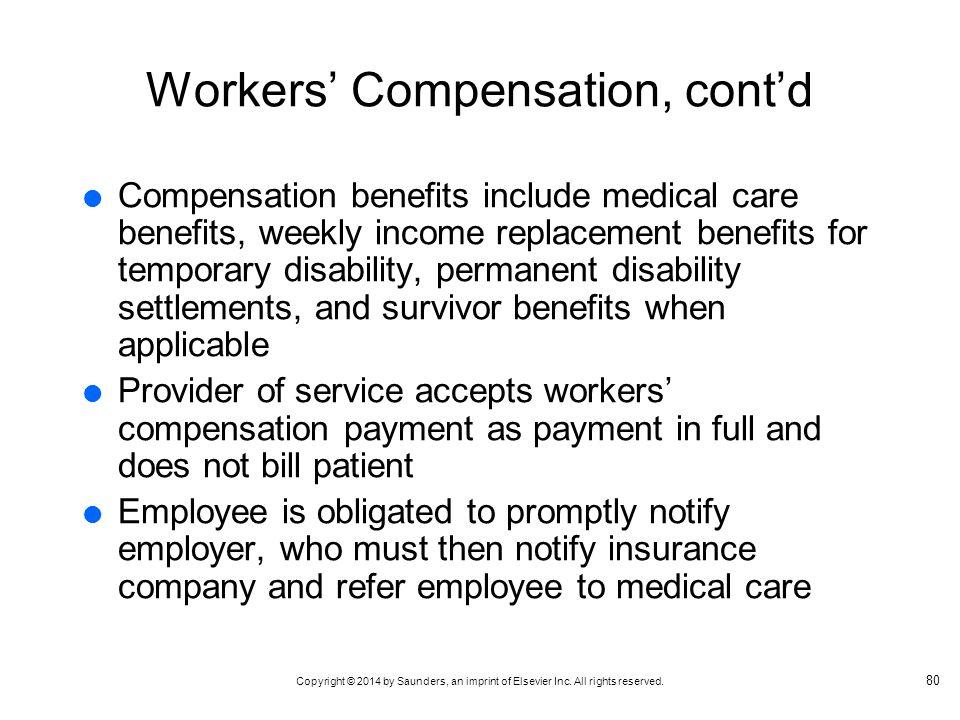 Workers' Compensation, cont'd
