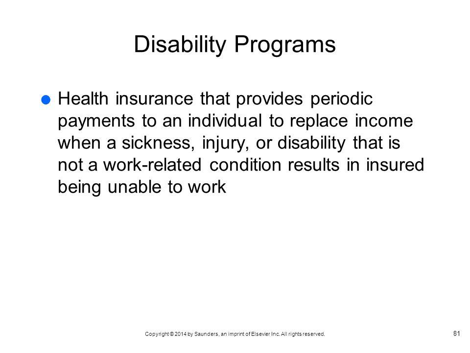 Disability Programs