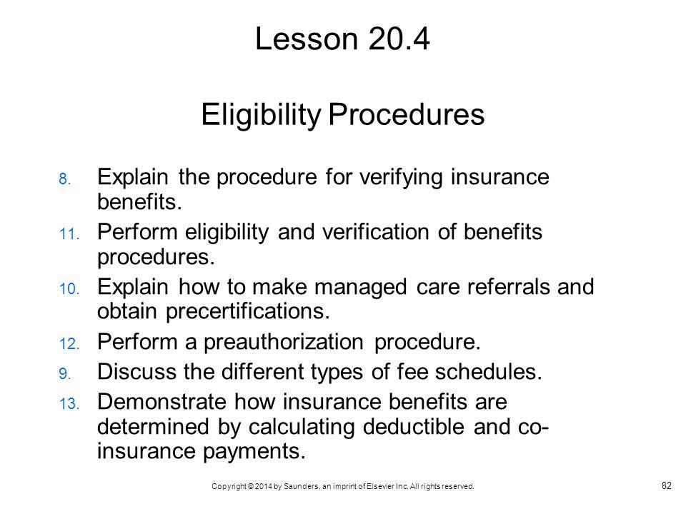 Eligibility Procedures
