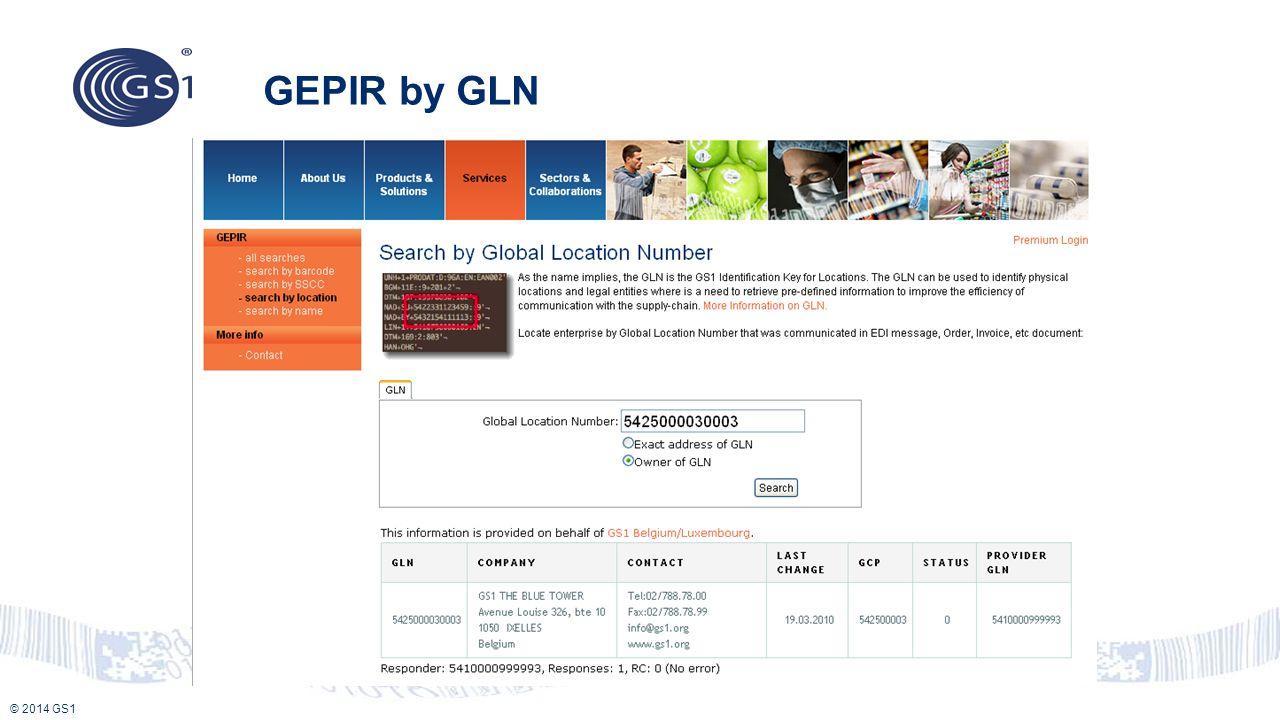GEPIR by GLN