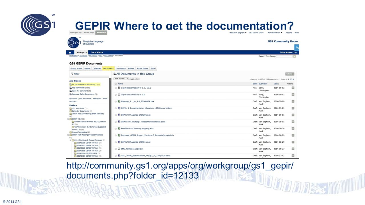 GEPIR Where to get the documentation