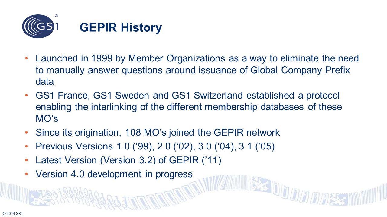 GEPIR History