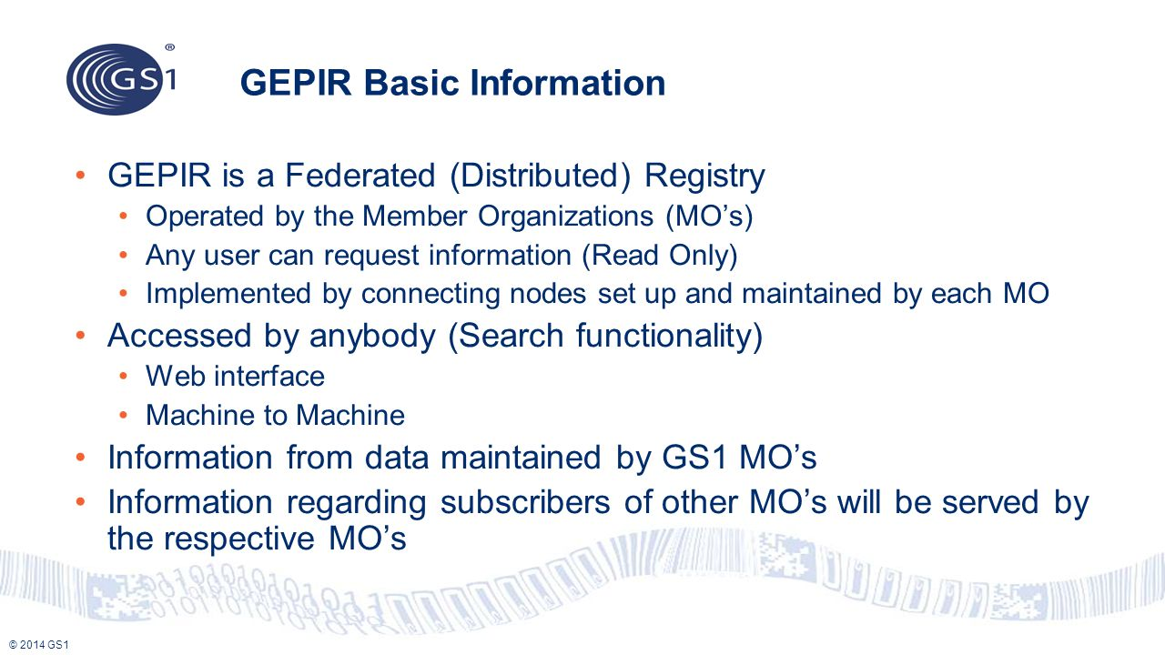 GEPIR Basic Information