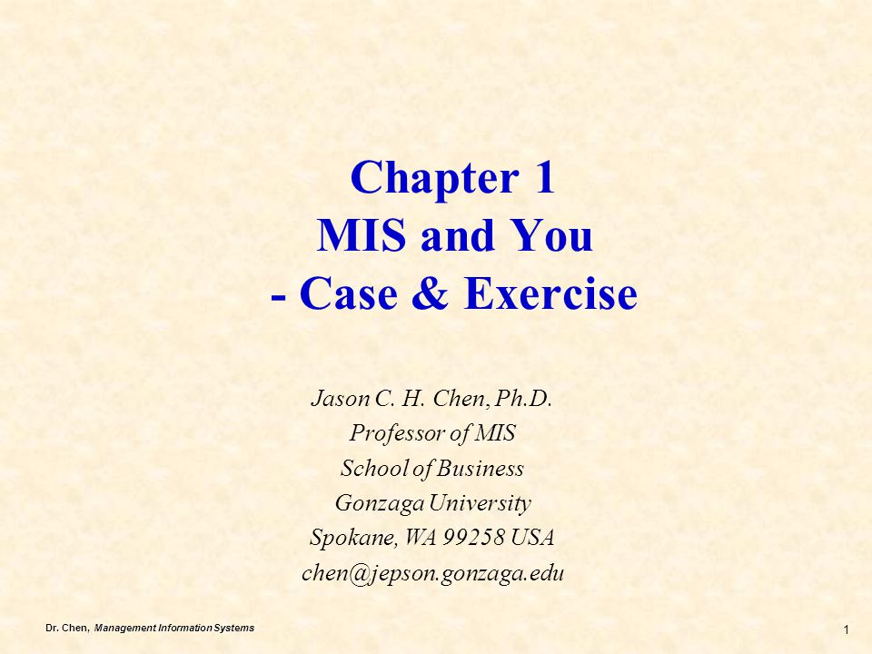 Chapter 1 MIS and You - Case & Exercise