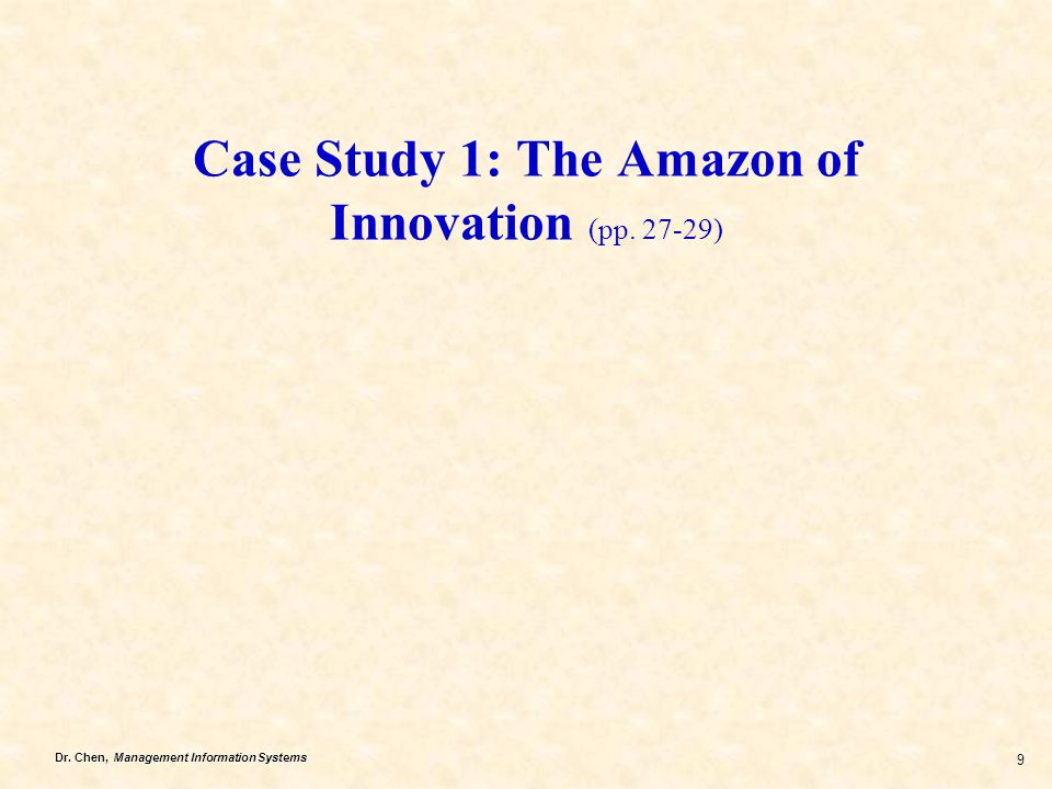 Case Study 1: The Amazon of Innovation (pp. 27-29)