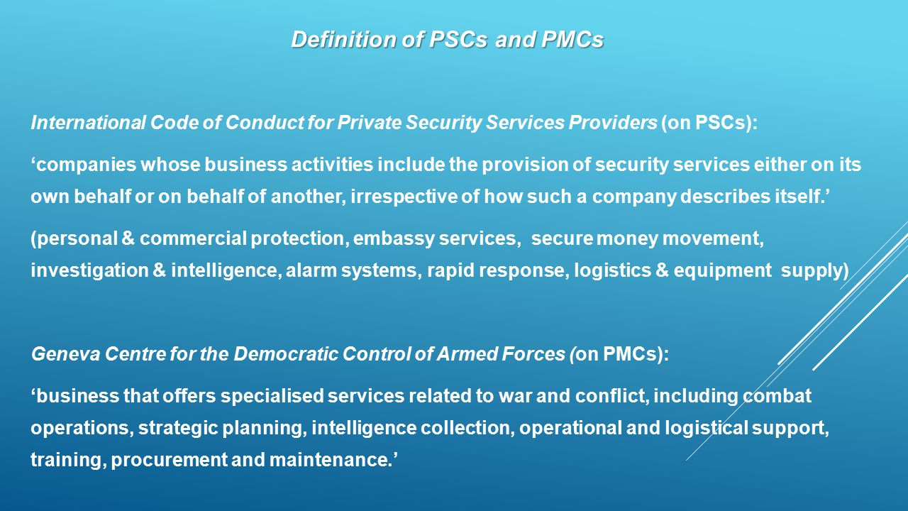 Definition of PSCs and PMCs