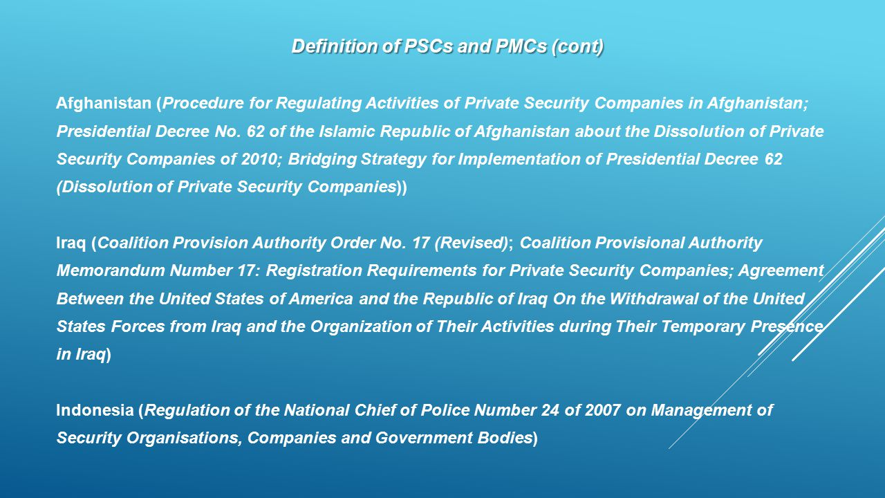 Definition of PSCs and PMCs (cont)