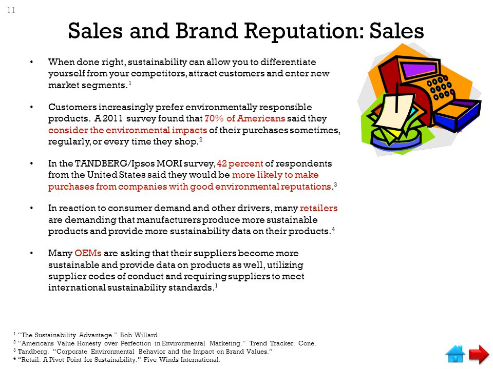 Sales and Brand Reputation: Sales