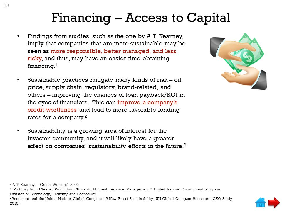 Financing – Access to Capital