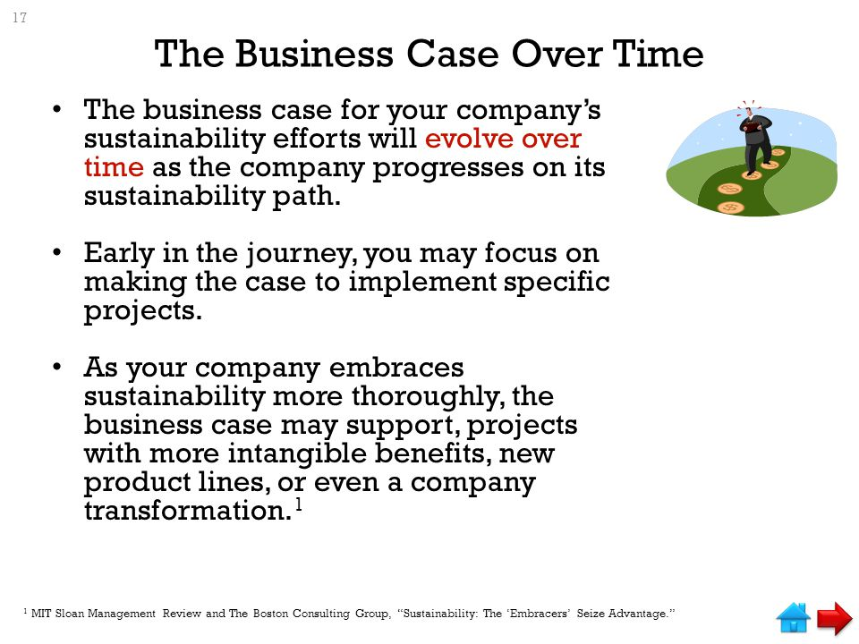 The Business Case Over Time