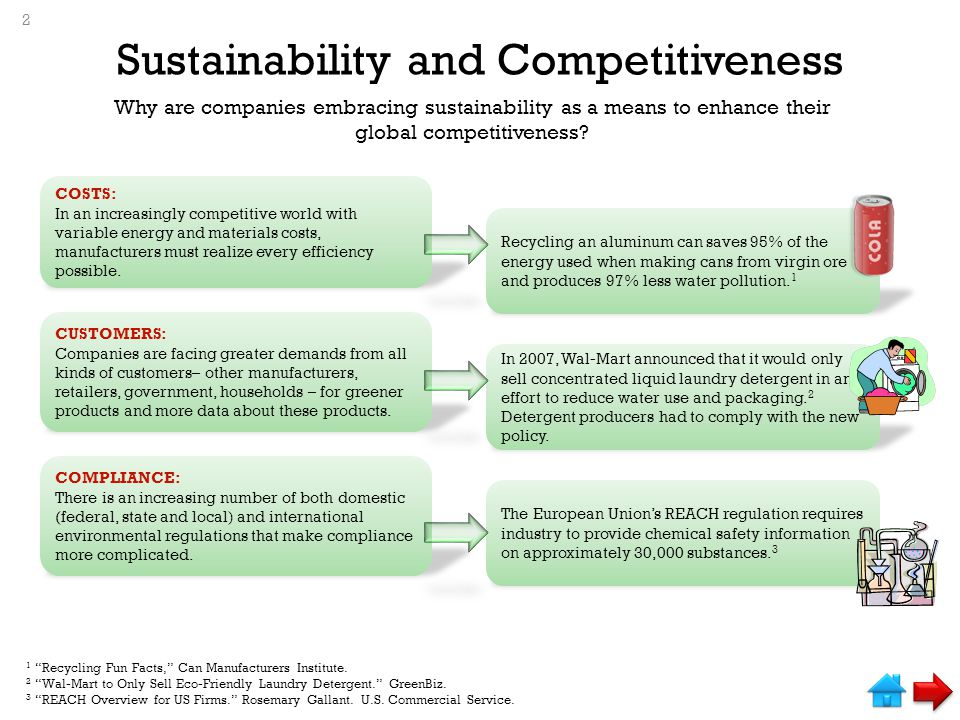 Sustainability and Competitiveness