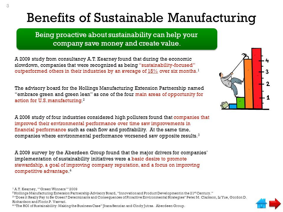 Benefits of Sustainable Manufacturing