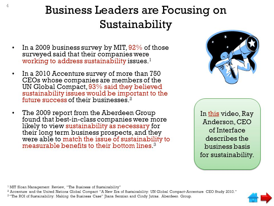 Business Leaders are Focusing on Sustainability