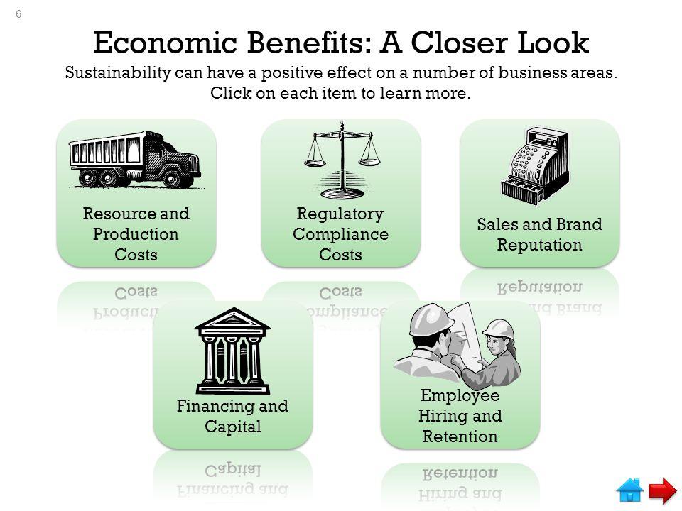 Economic Benefits: A Closer Look