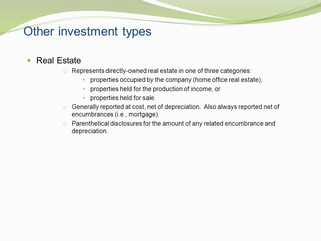 Other investment types