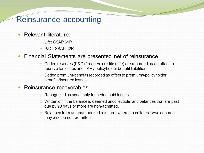 Reinsurance accounting