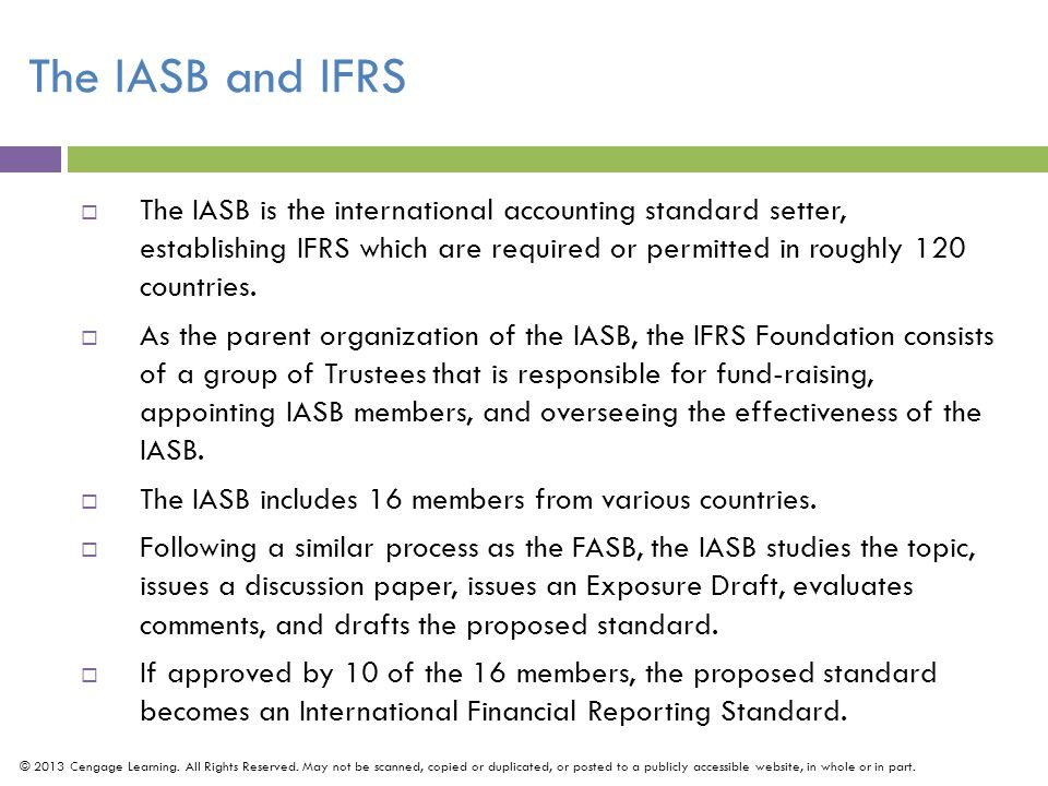 The IASB and IFRS