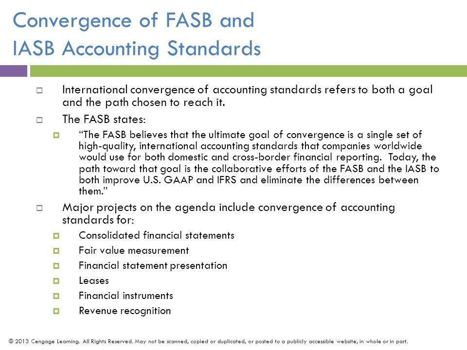 Convergence of FASB and IASB Accounting Standards