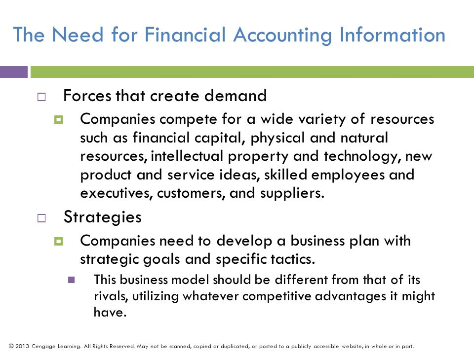 The Need for Financial Accounting Information