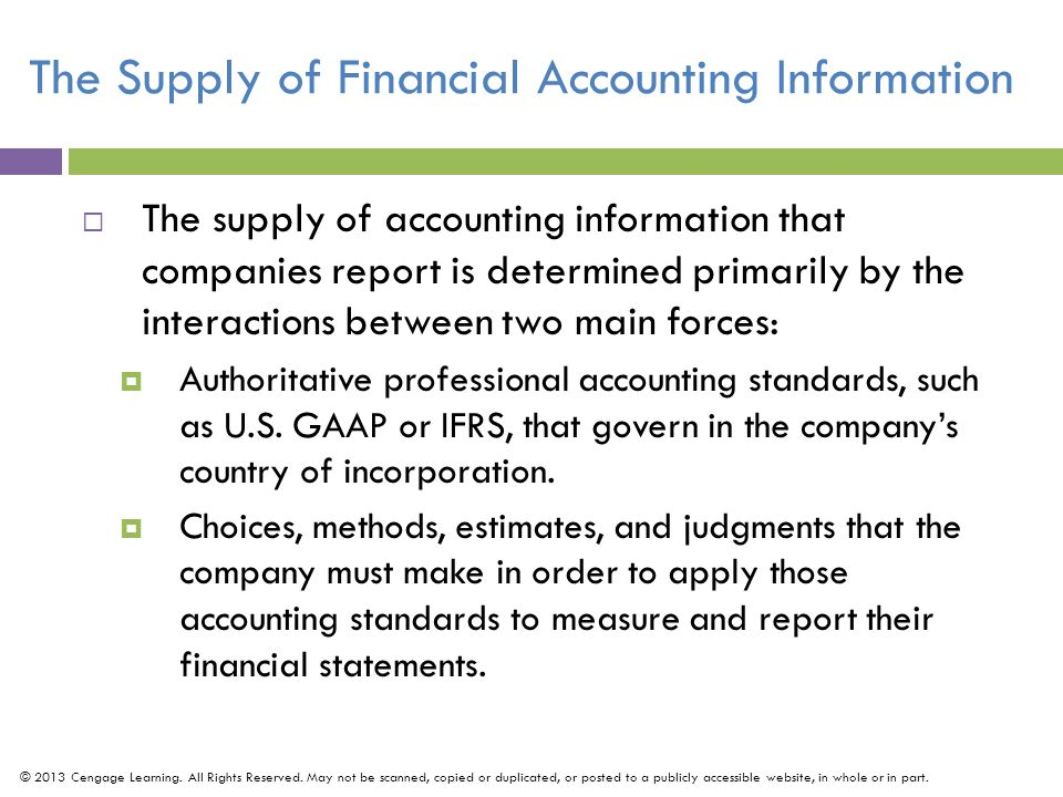 The Supply of Financial Accounting Information