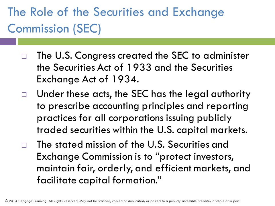 The Role of the Securities and Exchange Commission (SEC)