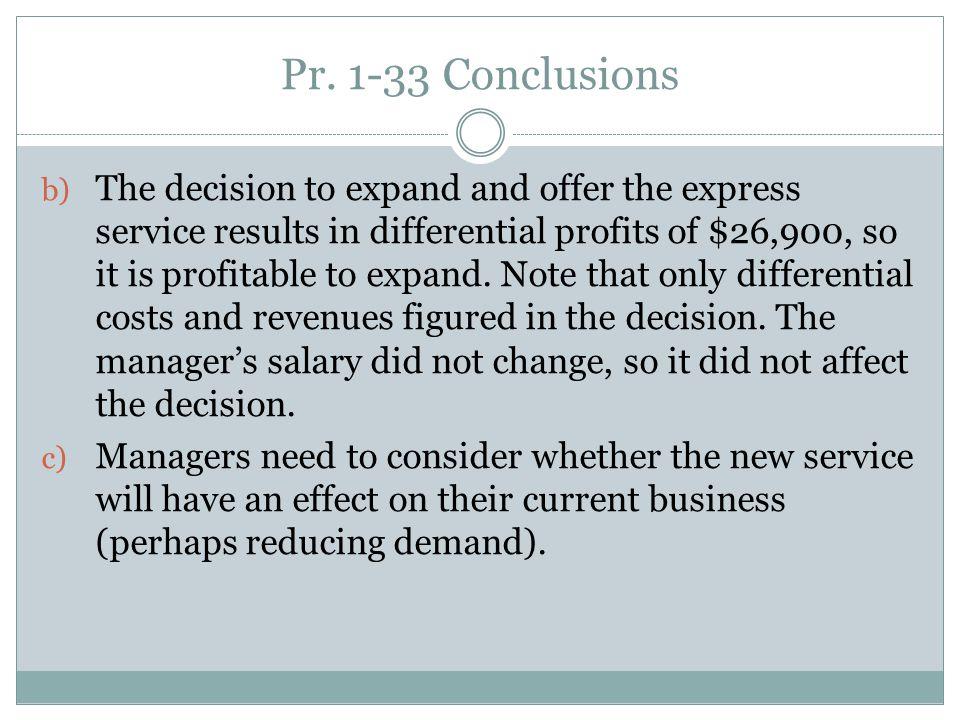 Pr. 1-33 Conclusions
