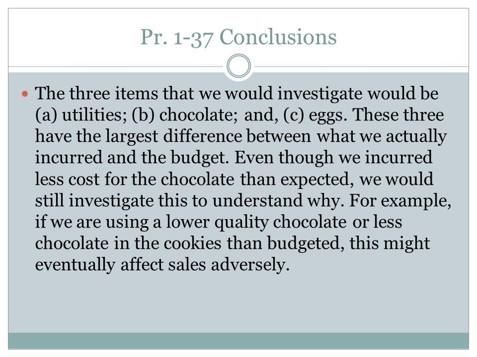 Pr. 1-37 Conclusions