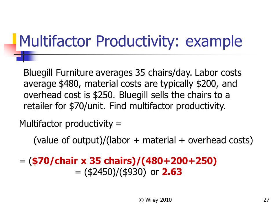 Multifactor Productivity: example