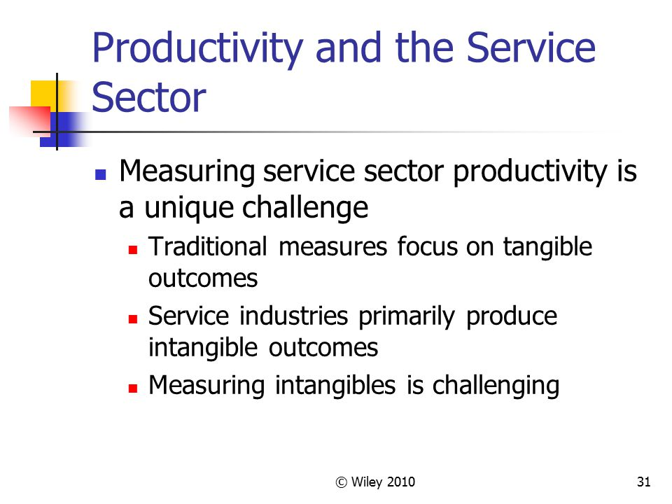 Productivity and the Service Sector