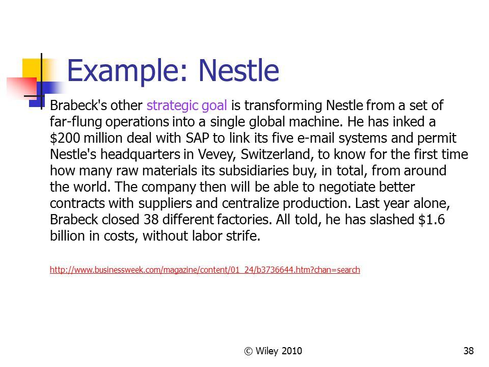 Example: Nestle