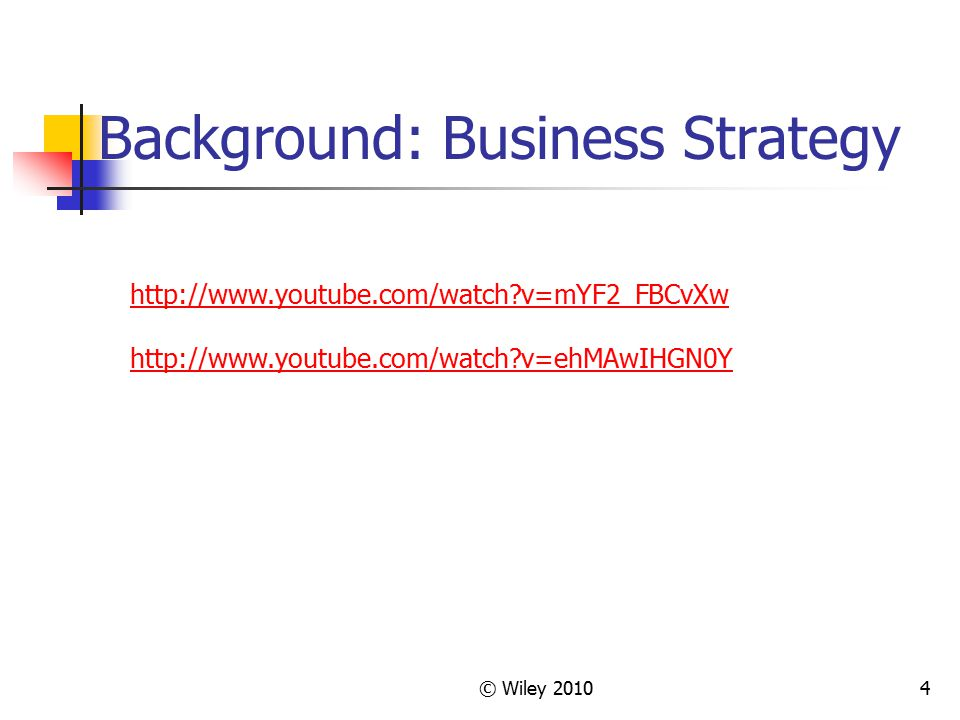 Background: Business Strategy