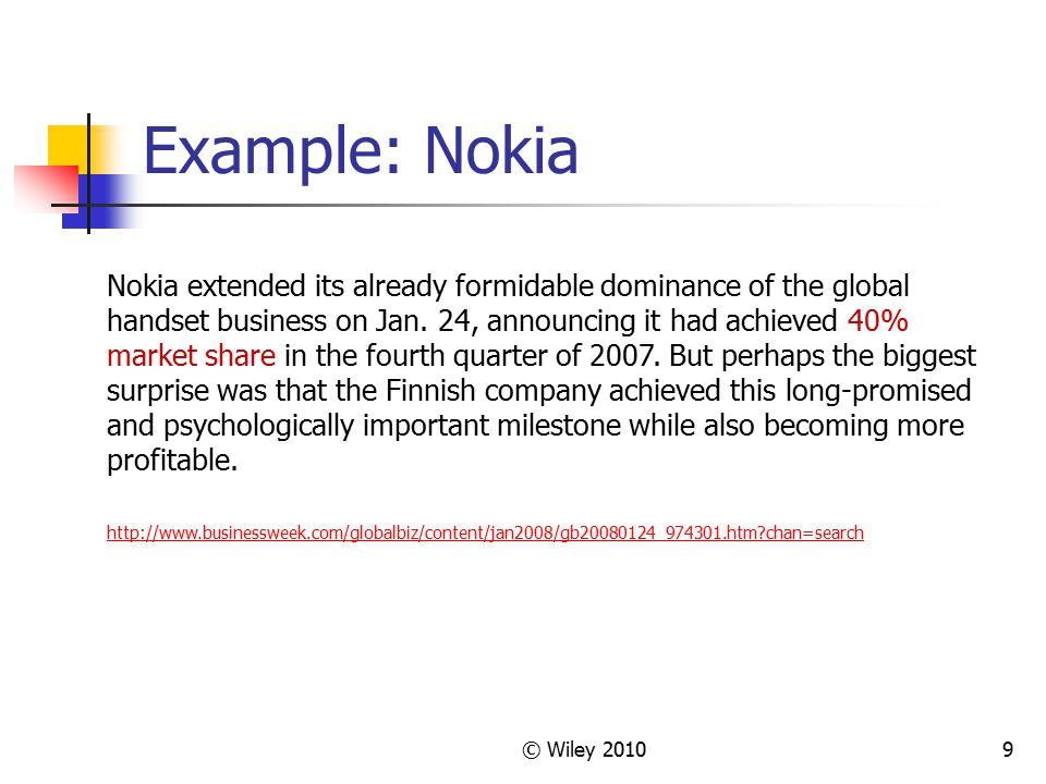 Example: Nokia