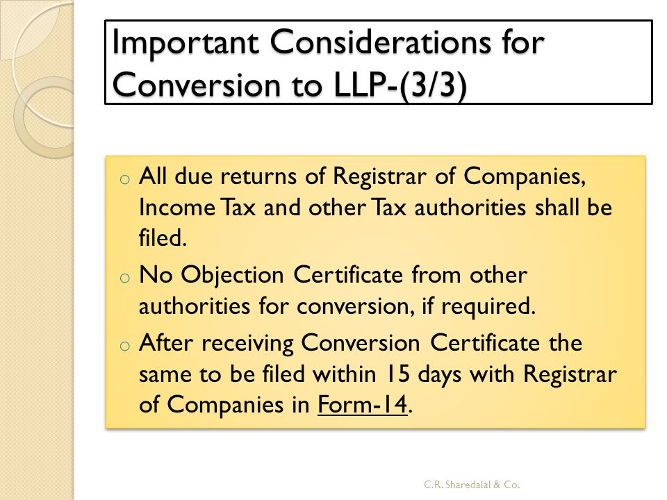 Important Considerations for Conversion to LLP-(3/3)