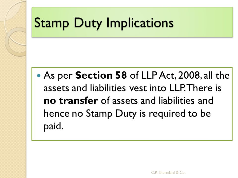 Stamp Duty Implications