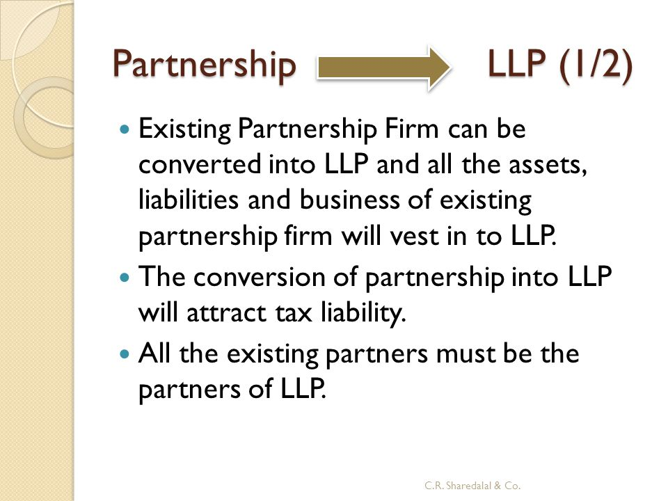 Partnership LLP (1/2)