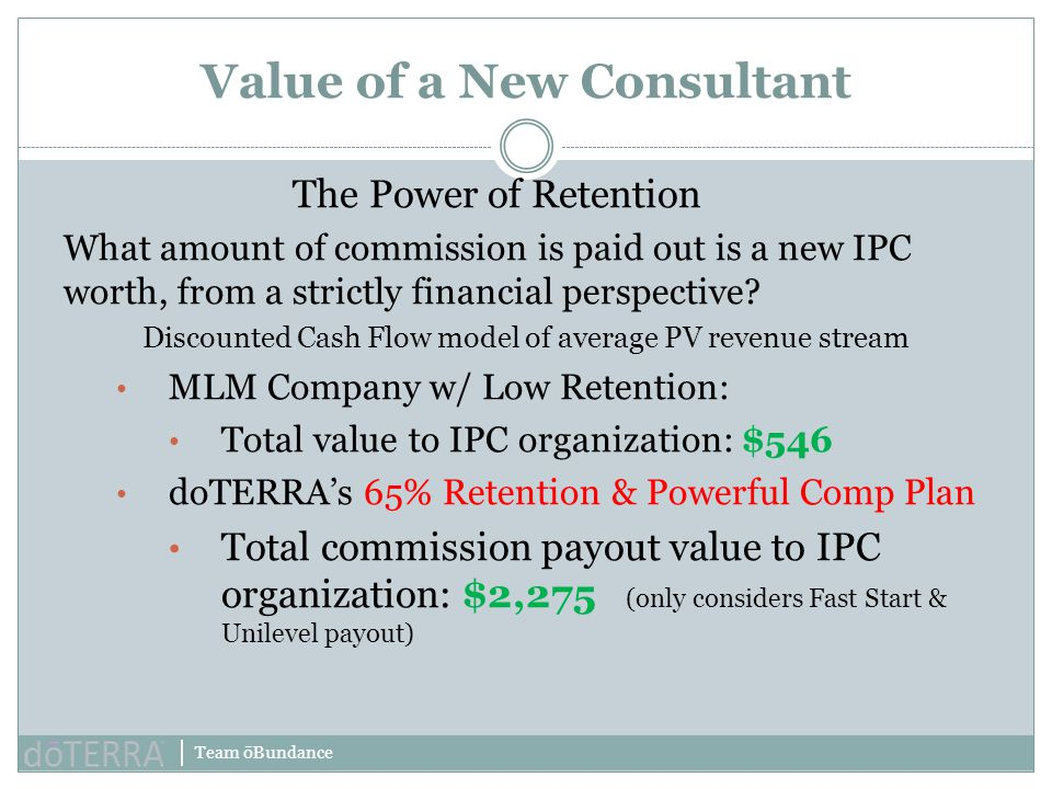 Value of a New Consultant