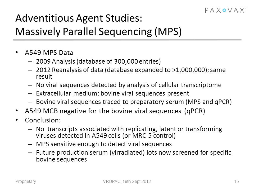 Adventitious Agent Studies: Massively Parallel Sequencing (MPS)